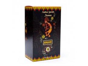 Goloka Vonné tyčinky Native spirits Kokopelli Kreativita Rose, 15 g