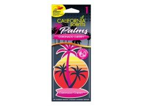 California Scents Palms Coronado Cherry (Višně) papírová visačka