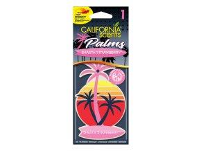 California Scents Palms 2D Shasta Strawberry (Jahody) papírová visačka