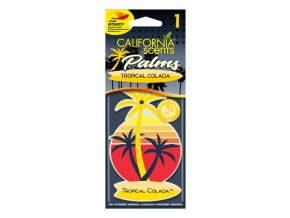 California Scents Palms 2D Tropical Colada papírová visačka