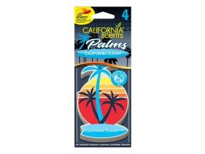 California Scents Palms 2D California Clean papírová visačka, 4 ks