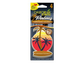 California Scents Palms 2D Capistrano Coconut (Kokos) papírová visačka, 4 ks