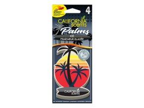 California Scents Palms Ice (Ledová svěžest) papírová visačka, 4 ks