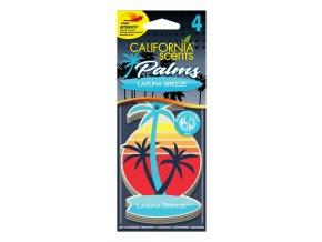 California Scents Palms 2D Laguna Breeze (Vůně moře) papírová visačka, 4 ks