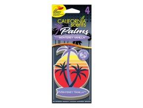 California Scents Palms 2D Monterey Vanilla (Vanilka) papírová visačka, 4 ks