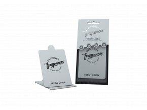 Designer Fragrances Osvěžovač vzduchu 2D Fresh Linen Papírová visačka, 1 ks