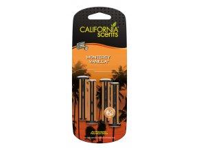 California Scents Vent Stick Monterey Vanilla (Vanilka) Vonné kolíčky, 4 ks