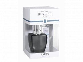 Maison Berger Paris Katalytická lampa JUNE Šedá + náplň Voda z aloe dárková sada, 250 ml