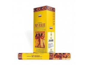 Darshan Vonné tyčinky Myrrh Hexa, 20 ks