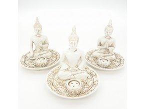 Mani Bhadra Stojánky na vonné tyčinky a kužely Buddhové Tibet, 3 ks
