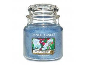 Yankee Candle Vonná svíčka Květy ze zahrádky (Garden Sweet Pea), 411 g