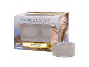 Yankee Candle Čajová svíčka Podzimní perla (Autumn pearl), 12 ks