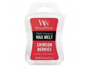 WoodWick Vonný vosk Červená jeřabina (Crimson Berries), 22,7 g