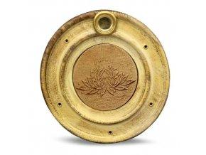 Mani Bhadra Stojánek na vonné tyčinky a kužely Květ lotosu, 10 cm