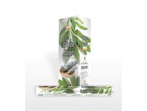 Darshan Vonné tyčinky White Sage Bílá šalvěj Hexa, 20 ks