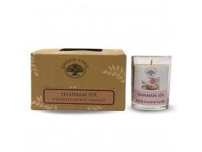 Green Tree Hammam Spa Votivní vonné svíčky Dárkové balení, 4 ks