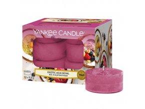 Yankee Candle Čajová svíčka Exotic Acai Bowl (Miska exotických chutí), 12 ks