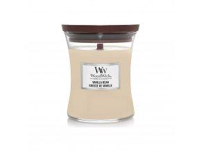 WoodWick Vanilla Bean Vonná svíčka s dřevěným knotem, 275 g