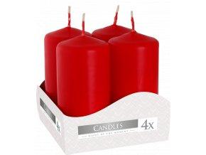 Bispol Adventní svíčka válec Červená, 40 x 80 mm, 4 ks