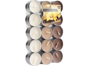 Aura Čajové vonné svíčky Vanilka, 30 ks