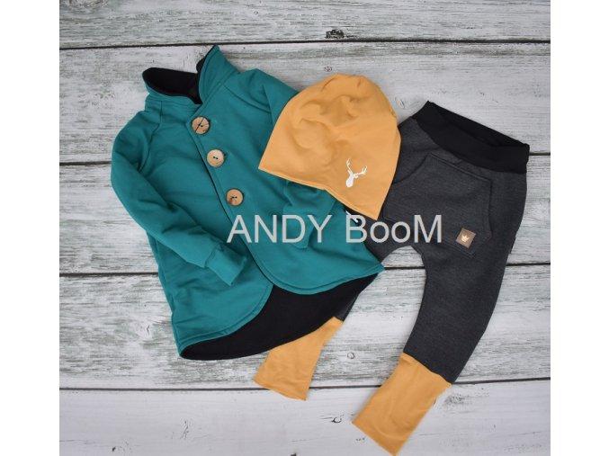 kabátek vyteplený smaragd