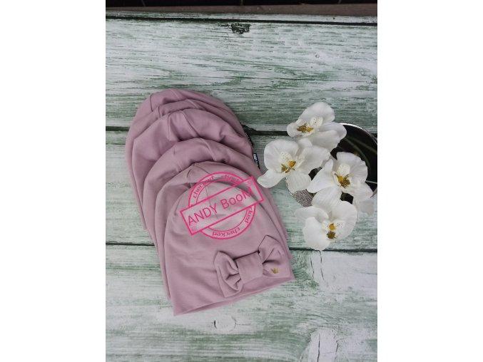 čepice lila - mašle