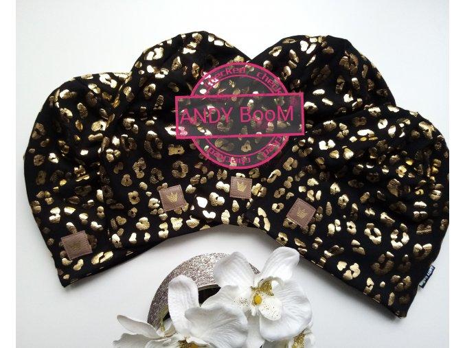 čepice  zlaty gepard