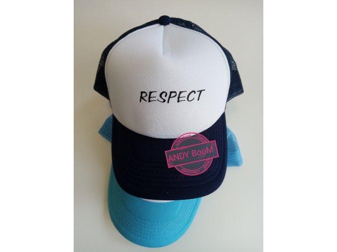 kšiltovka tm. Modra RESPECT