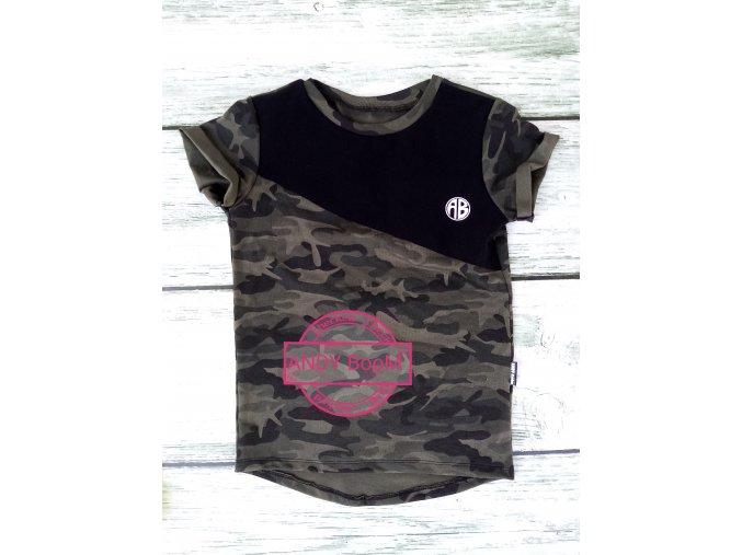 tričko army kombi s černou