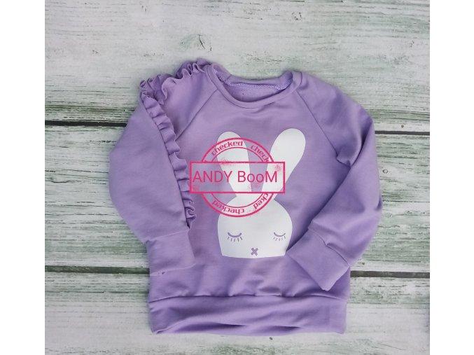 "mikina ""sleep bunny"" violet"