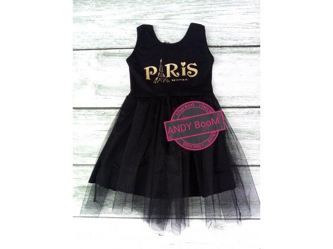 šaty černé PARIS