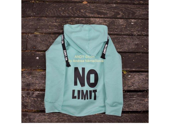 mikina NO LIMIT - mint