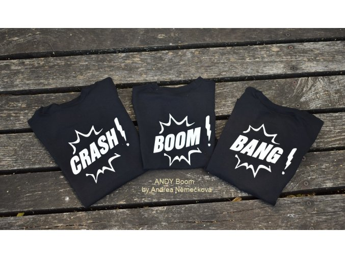 tričko černé -BOOM