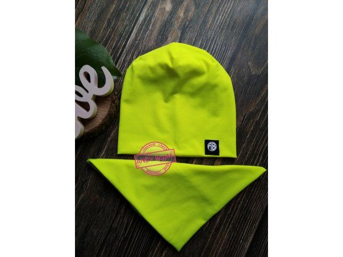 čepice  neo žlutá  AB