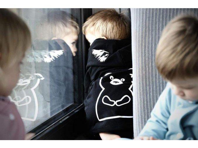 mikina/kabátek bear black - Karpaty