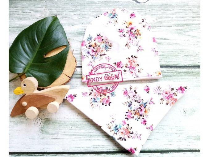 čepice color flower beanie