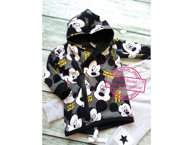 mikina Mickey šedá