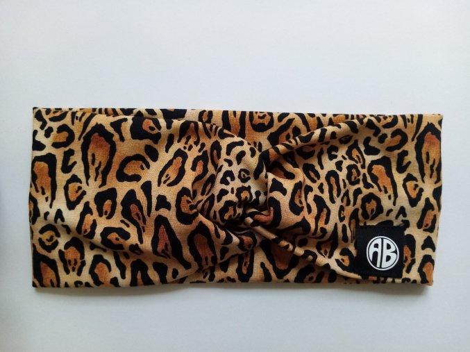 křížená čelenka gepard hnědý