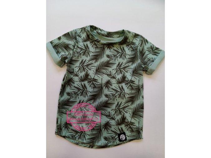 tričko palmové listy