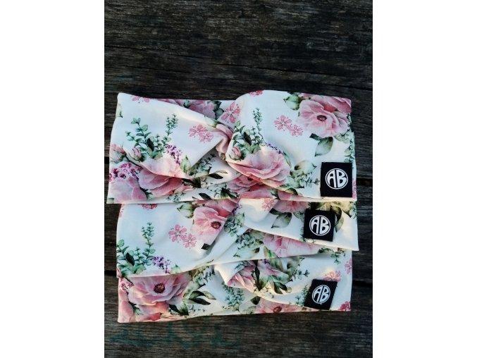 křížená čelenka čajové růže