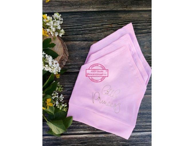 šátek růžový little princess