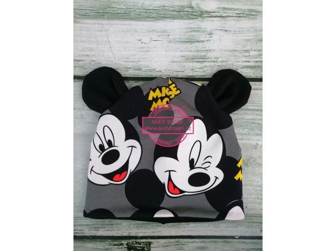 čepice  Mickey Mouse šedý
