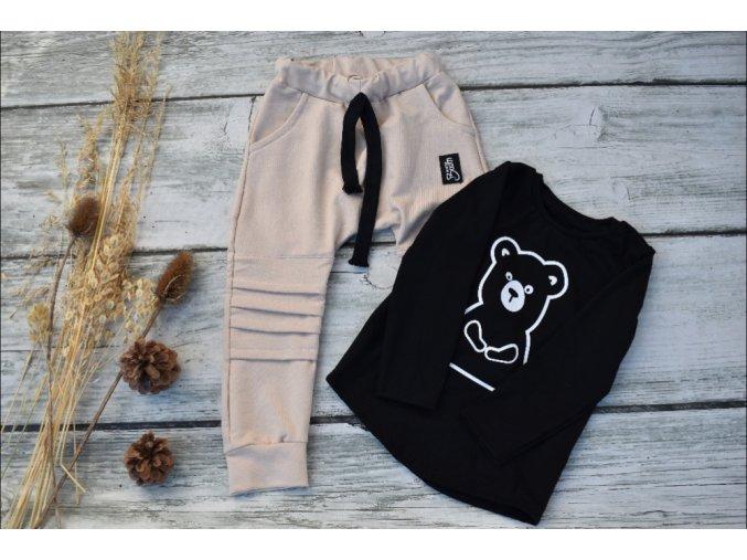 tričko černé Karpaty - medvěd