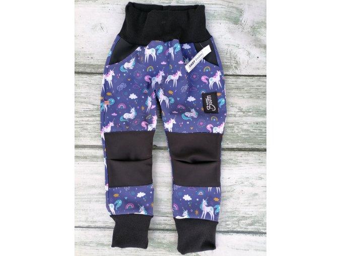 Soft kalhoty jednorožec - rostoucí