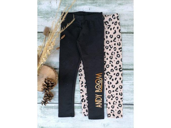legíny duo pack černé/gepard