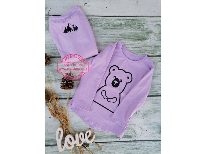 tričko violet Karpaty