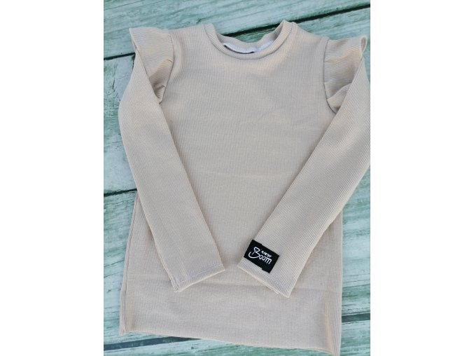 tričko BASIC žebro béžové