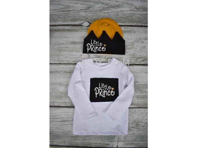 tričko little Prince- černý obdelník