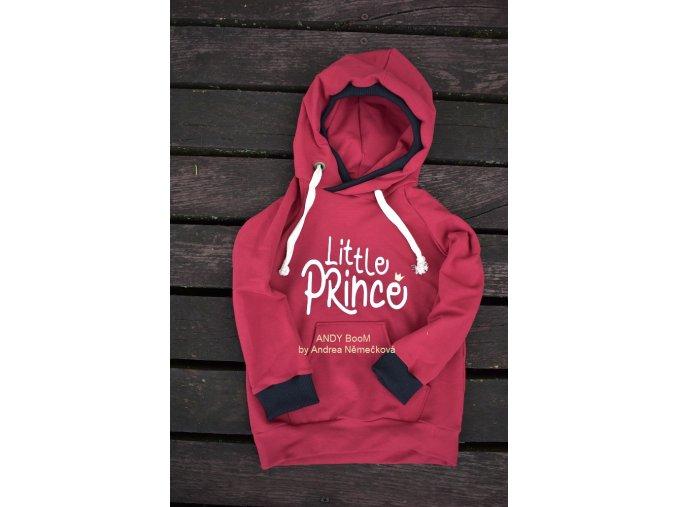 mikina Little Prince - bordo