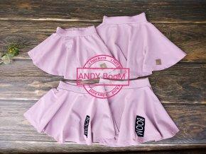 Kolová suknicka lila